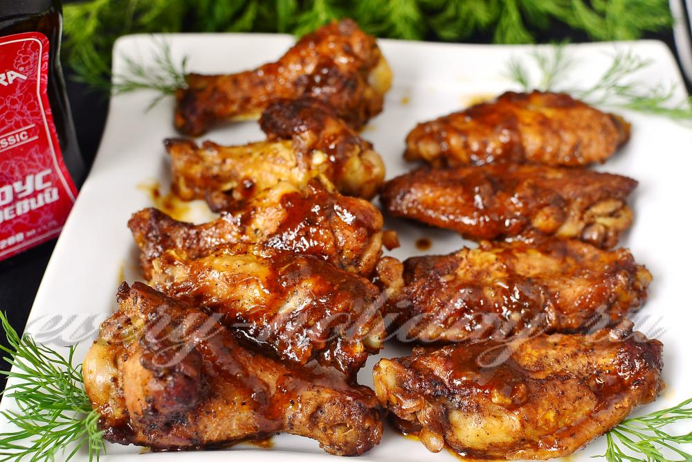 Приготовить куриные крылышки рецепт фото