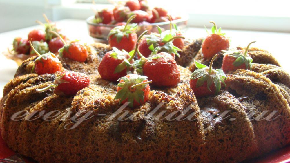 Клубничный пирог на кефире в мультиварке рецепты
