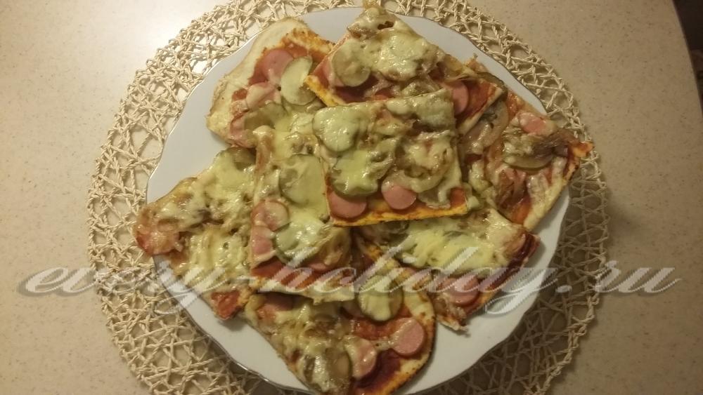 Пицца на слоеном тесте в духовке - Домашний Ресторан