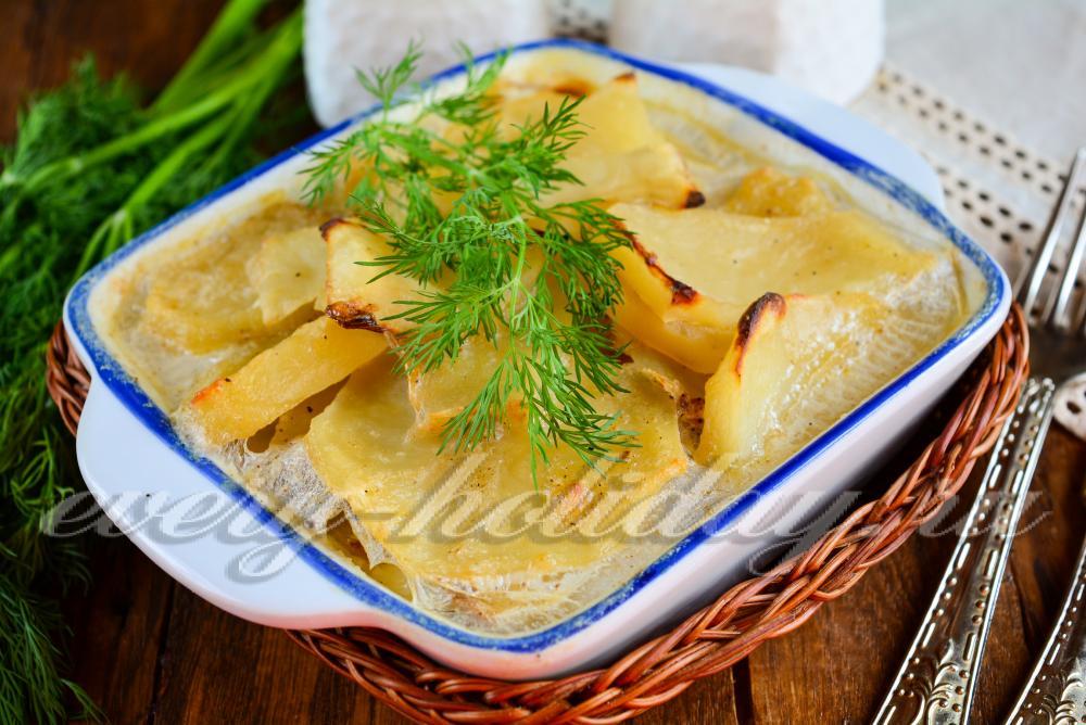 Картофельный гратен с молоком рецепт пошагово