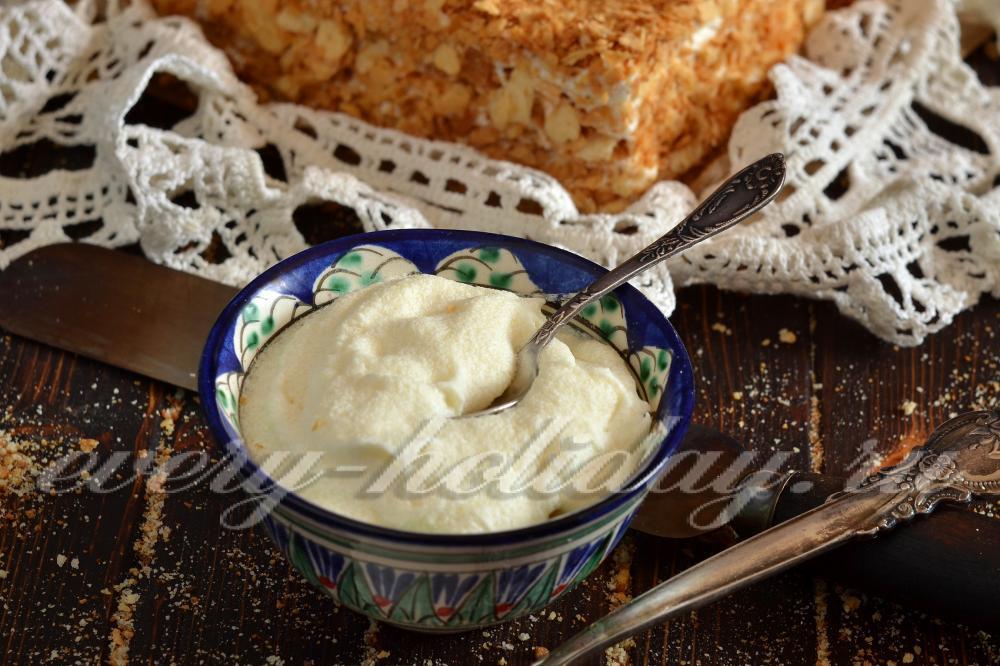 Заварной крем на молоке для наполеона рецепт с пошагово