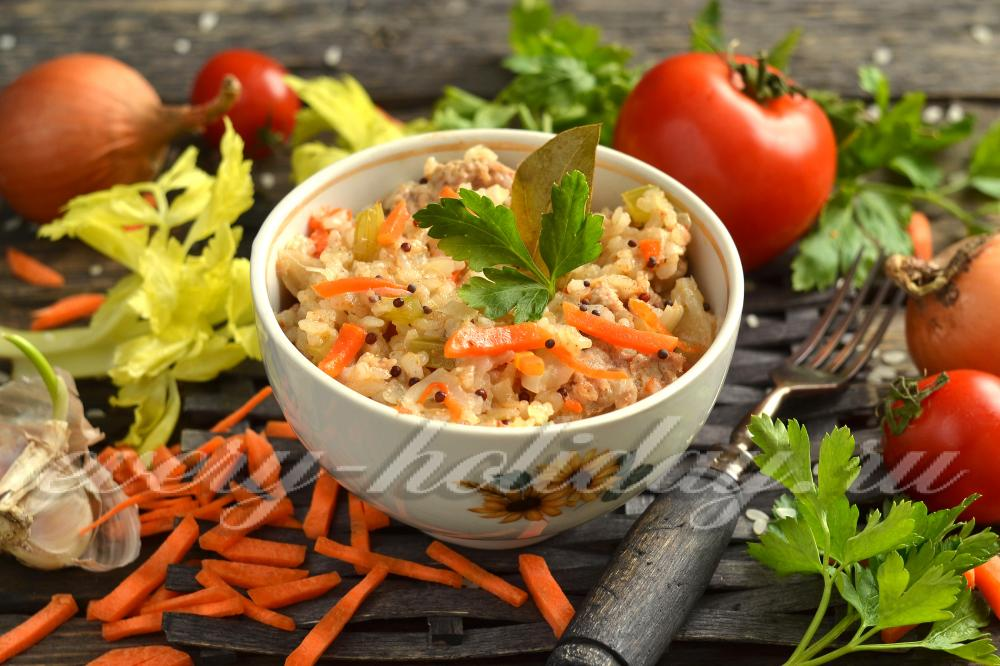 рис капуста фарш лук морковь