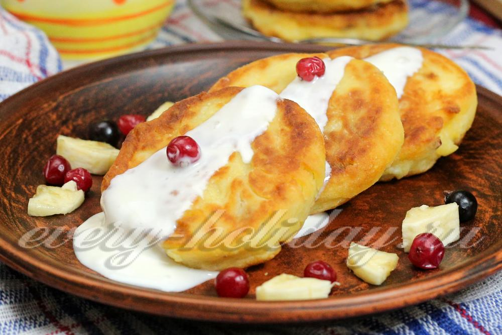 сырники с бананом и творогом пошаговый рецепт