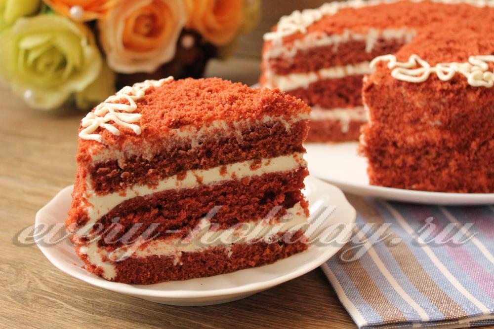 Рецепт торта красный бархат пошагово с фото