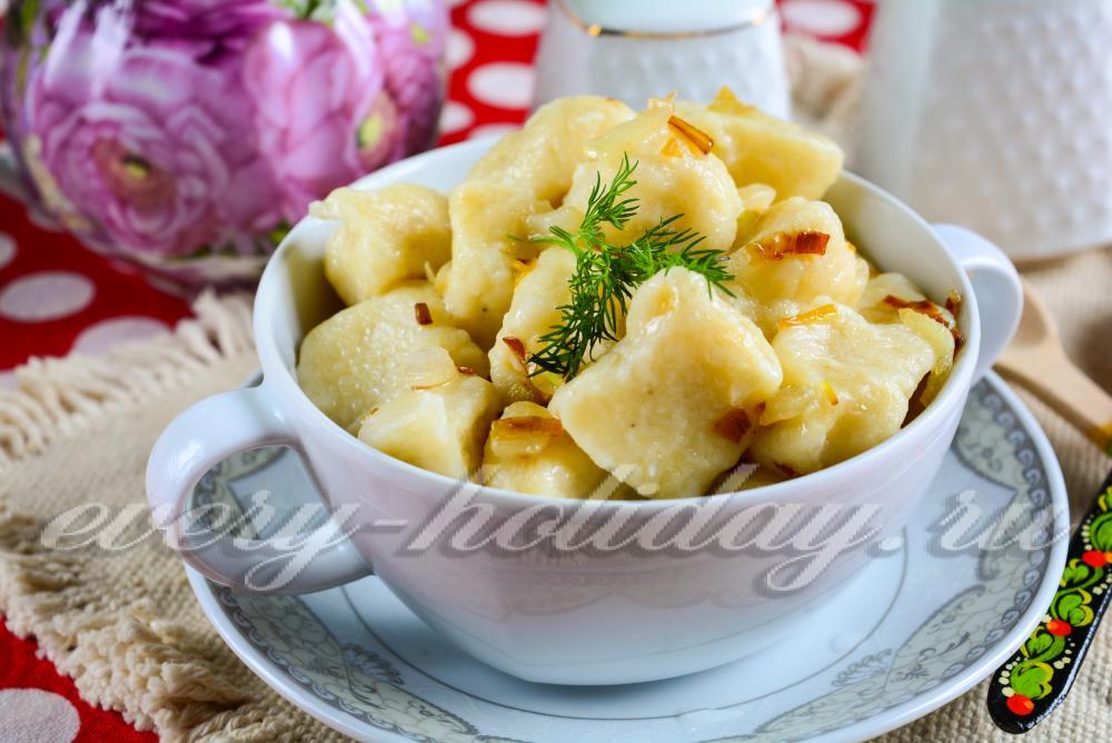 Ленивые вареники пошаговый с с картошкой