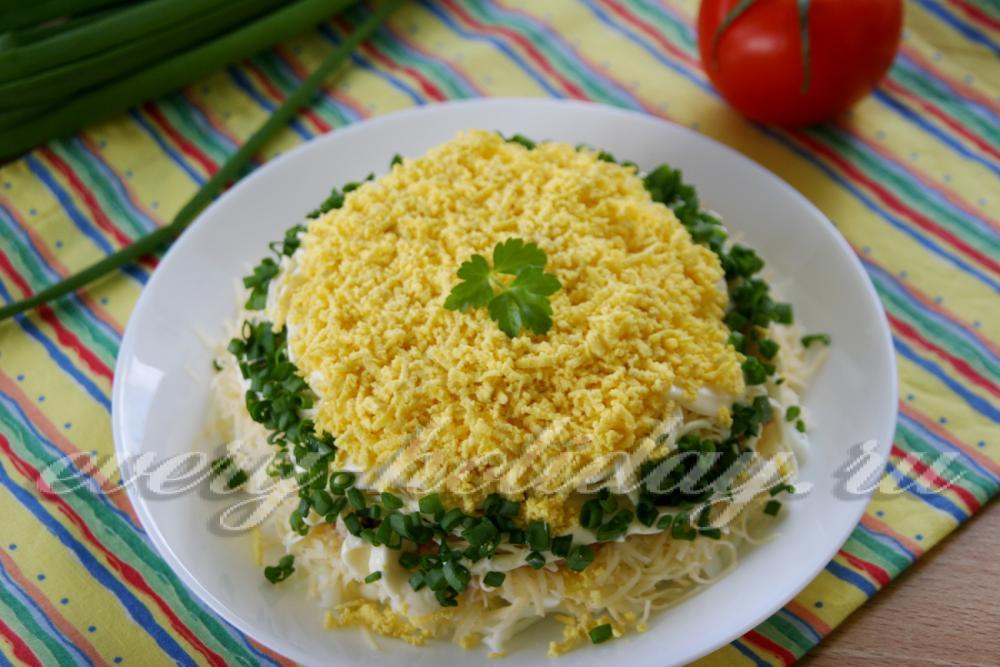 Рецепт с пошаговым салат мимоза с рисом