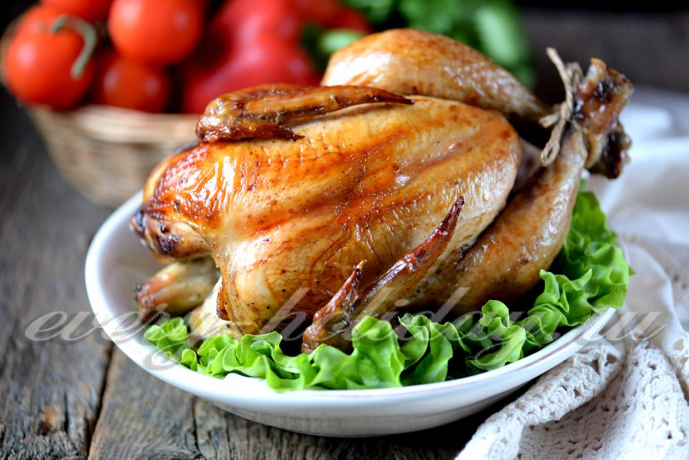 курица на банке в духовке рецепт с майонезом
