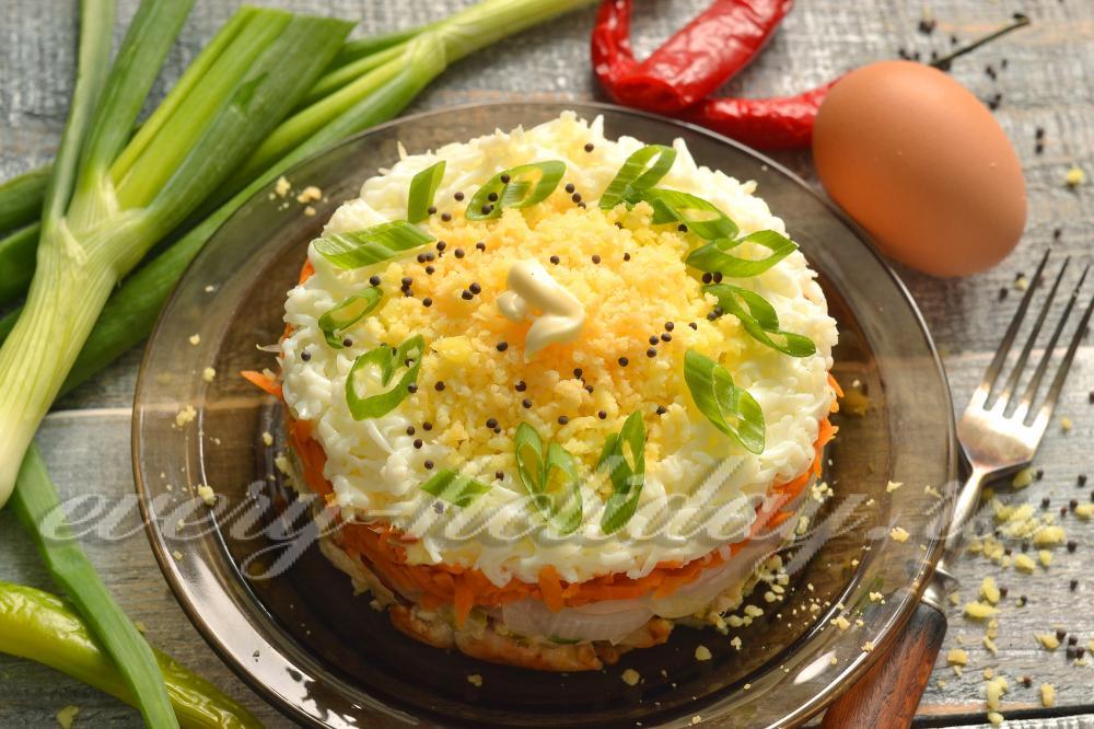 салат мужской каприз с орехами рецепт с фото