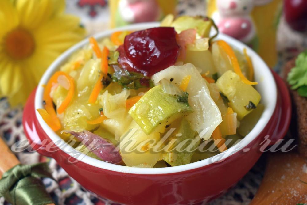 Рагу из картошки с капустой в мультиварке рецепты