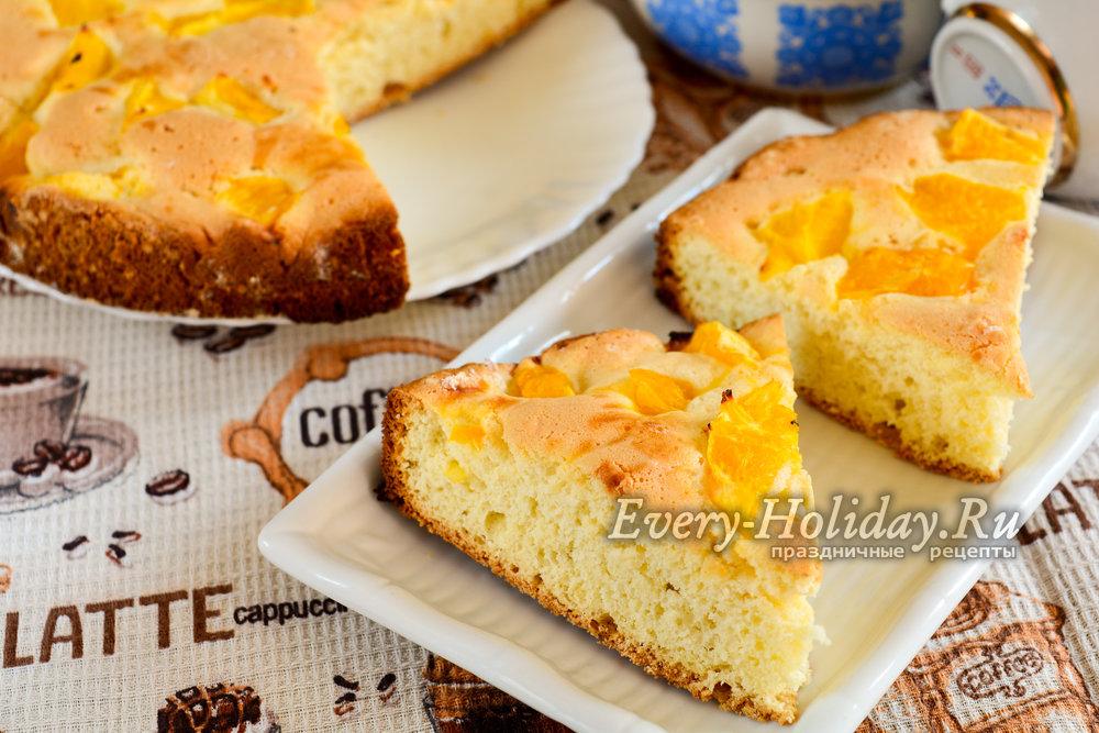 Шарлотка с апельсинами рецепт с фото в мультиварке