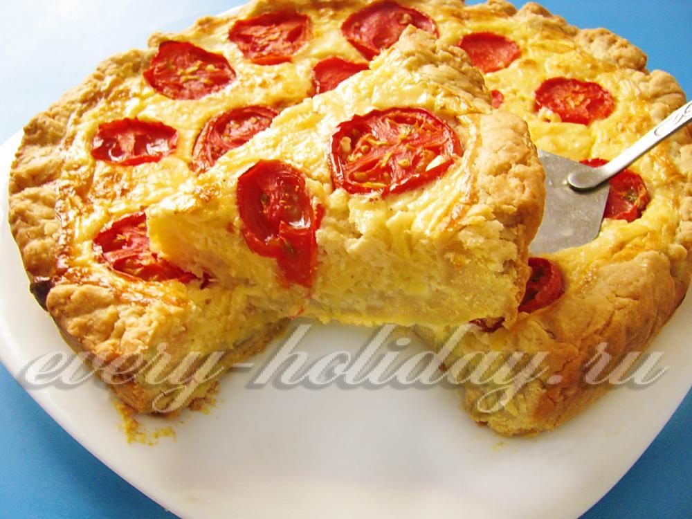 Кабачковый пирог с помидорами рецепт с фото