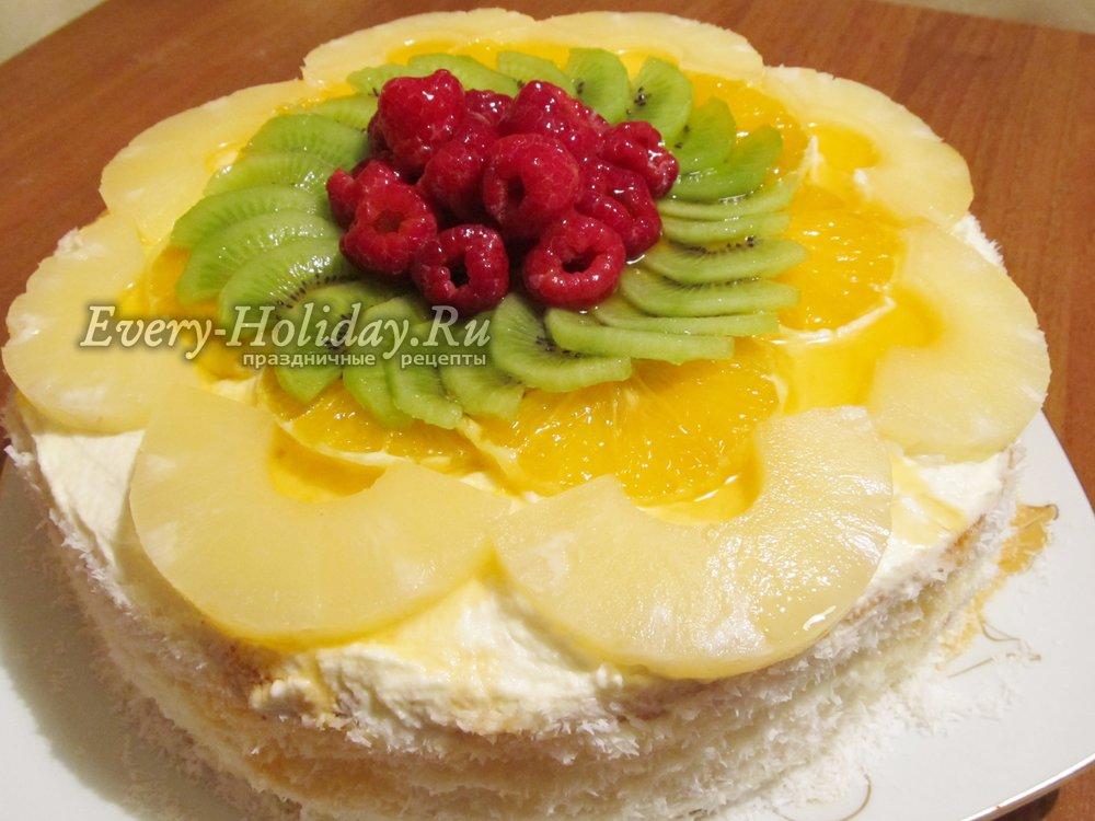 Сметанные торты с фруктами рецепт 29