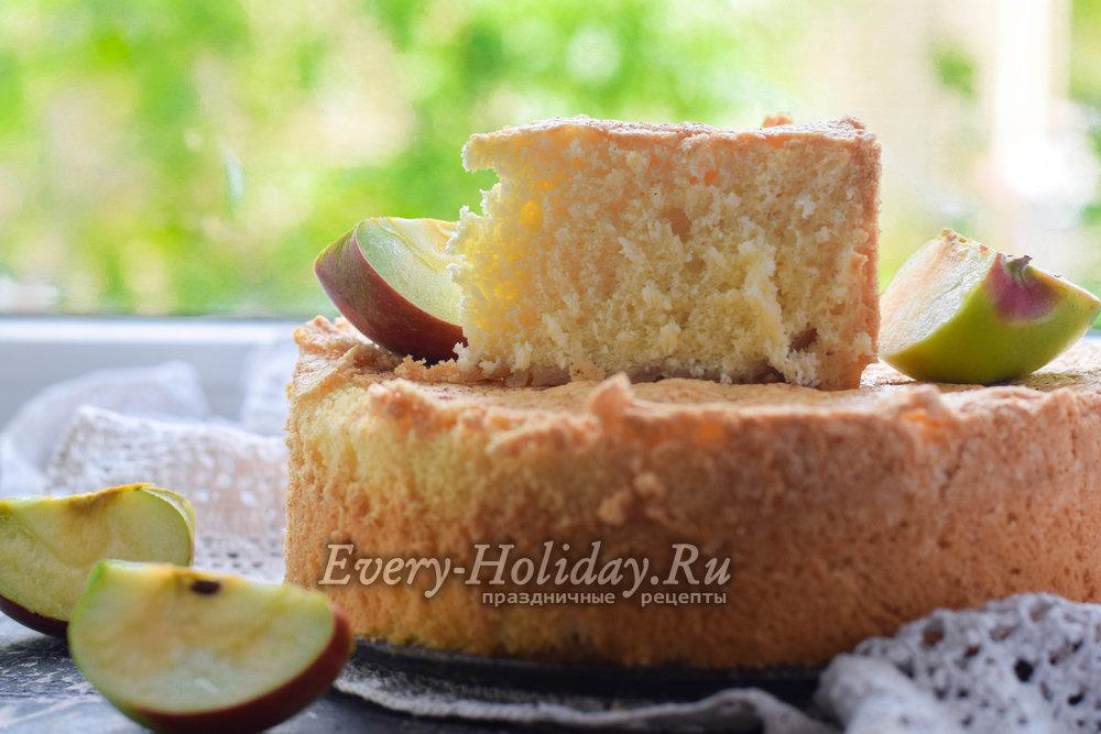 шарлотка рецепт классический из яблок