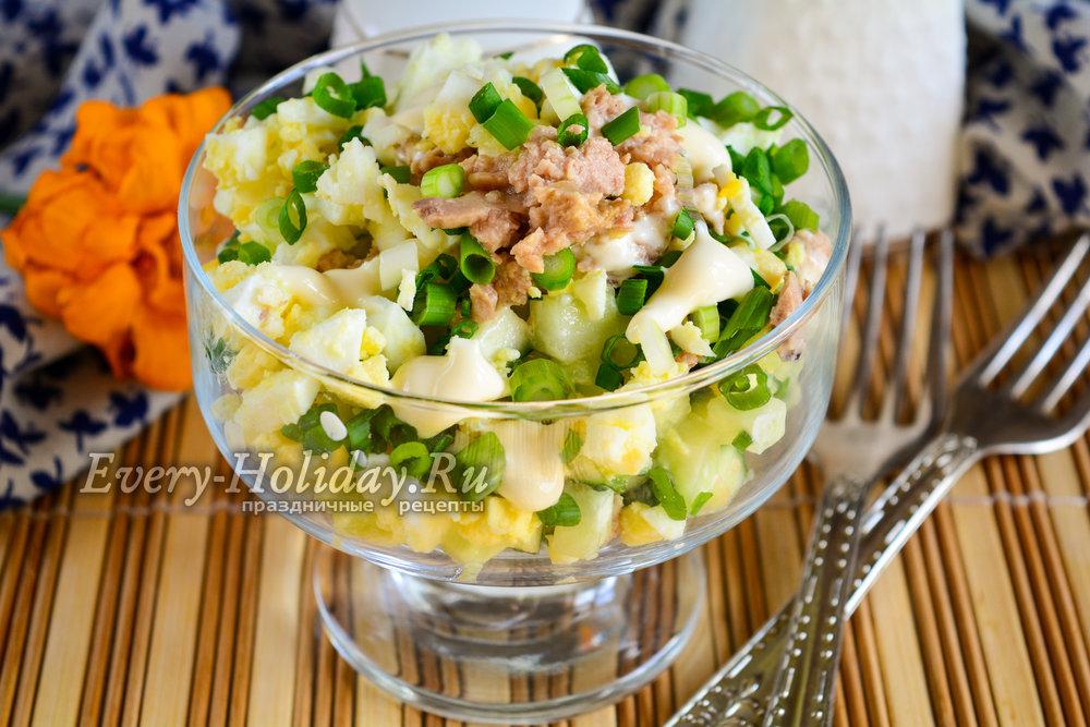 Салат из печени трески в яйце в
