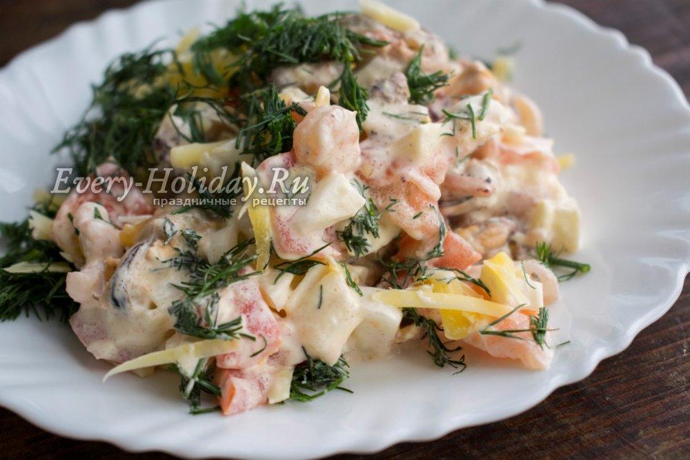 Морской коктейль салат рецепт