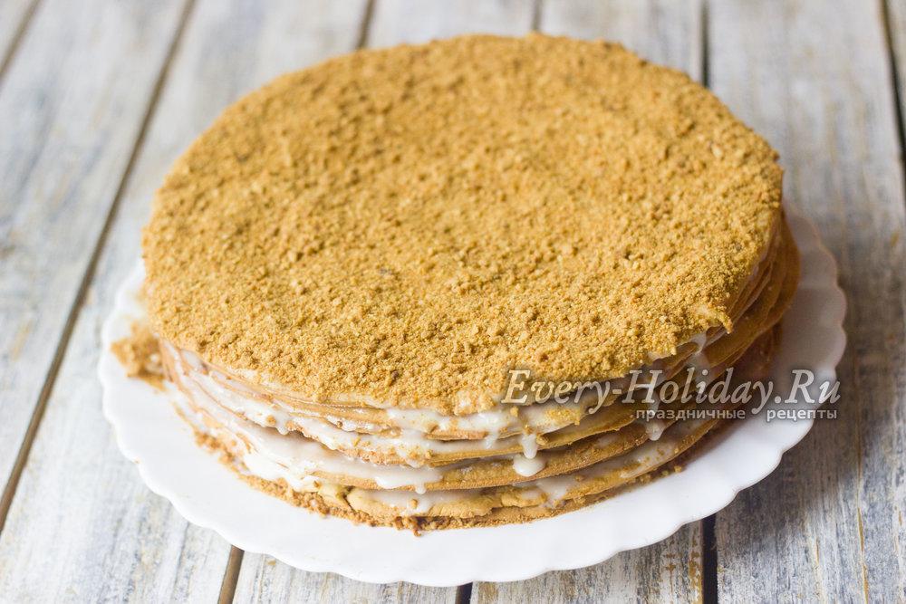 Торт Рыжик рецепт классический с фото пошагово в домашних 80