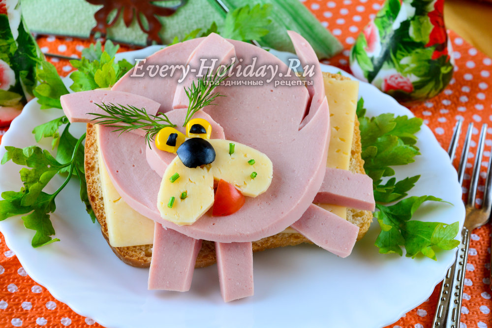 Рецепты новогодних бутербродов 2018