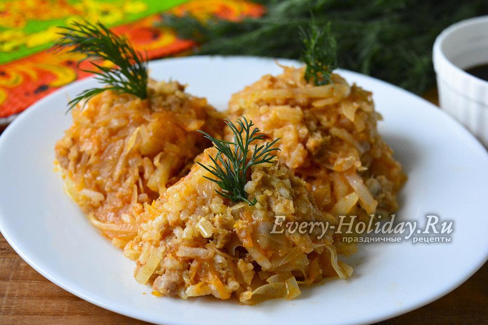рецепт голубцов с фаршем и рисом в мультиварке