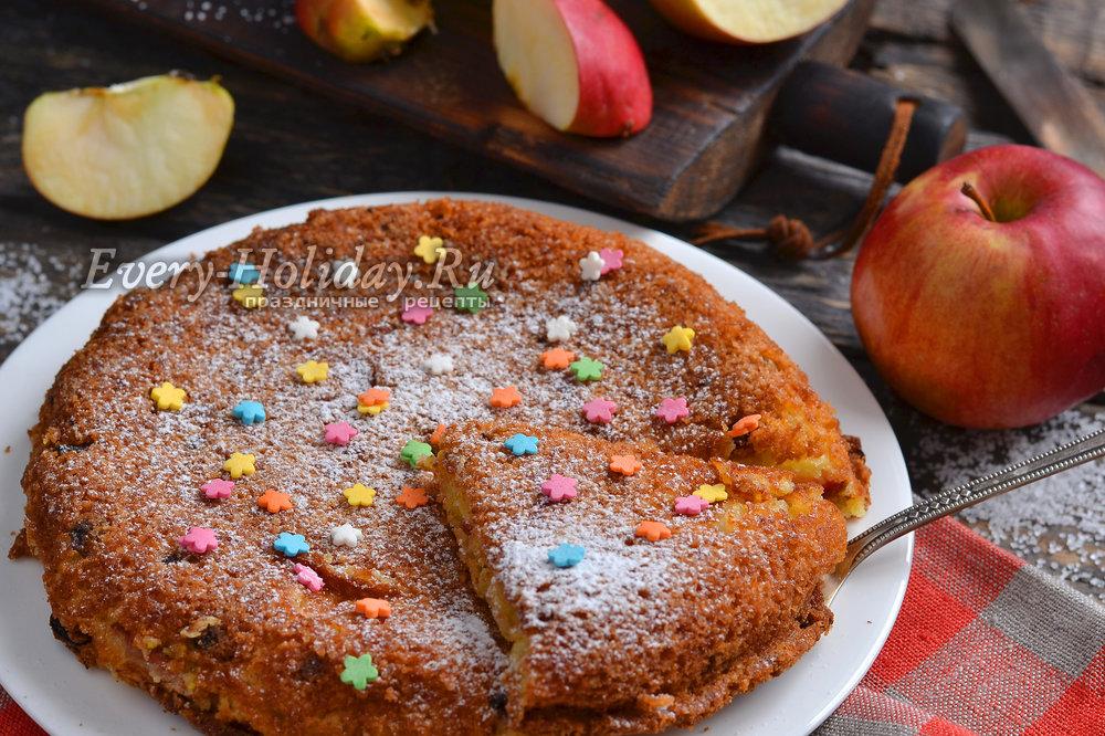 шарлотка в сковороде в духовке рецепт с фото