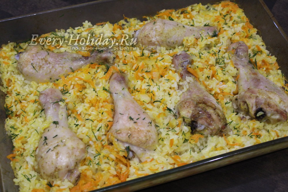 Голени куриные с рисом рецепт