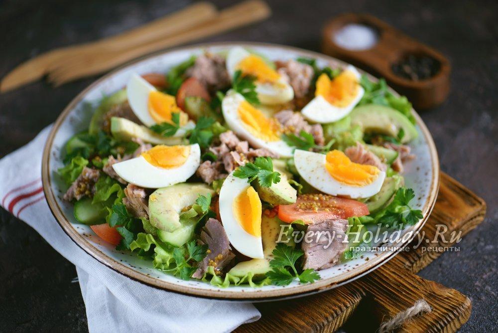 салат с тунцом и авокадо рецепт с фото очень вкусный