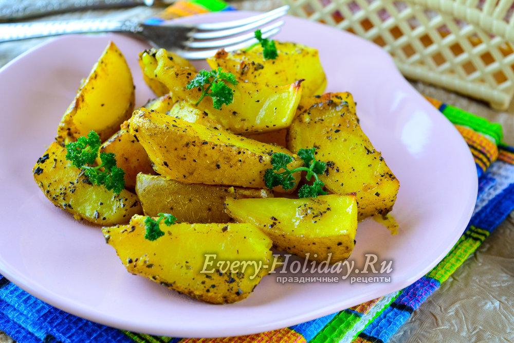 Картошка с золотистой корочкой в духовке рецепт 197