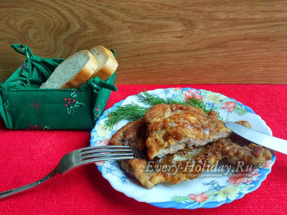 сочные отбивные из свинины на сковороде рецепт с фото