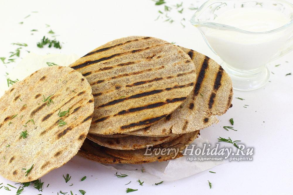 Ржаные лепешки рецепт без дрожжей на сковороде