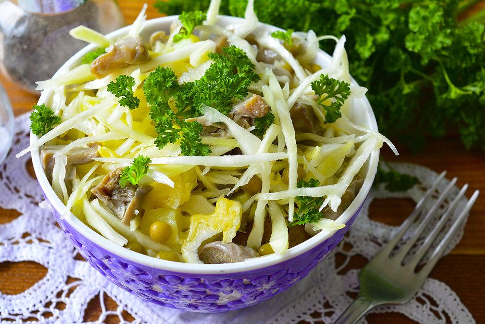 Салат с грибами рецепт очень