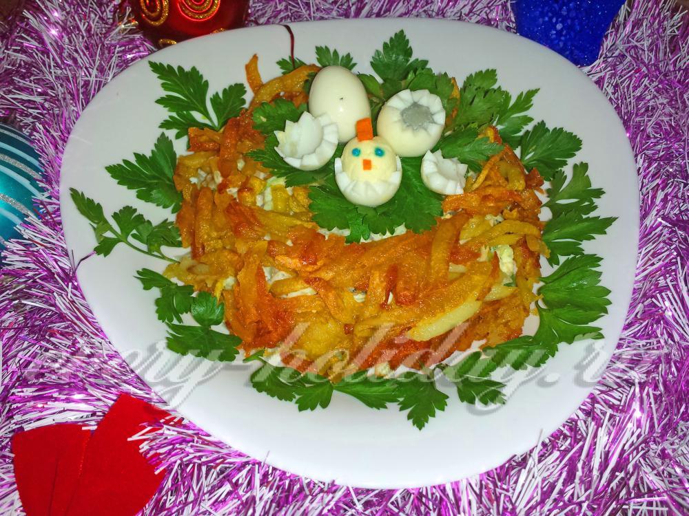 Гнездо глухаря салат рецепт с языком 28