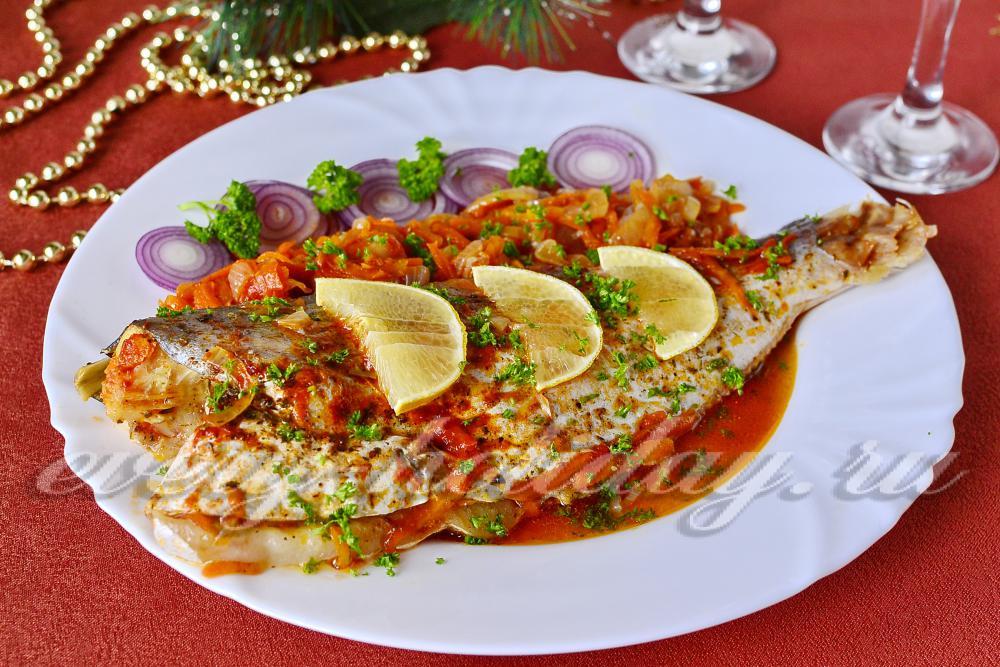 пангасиус запеченный в духовке с овощами рецепт