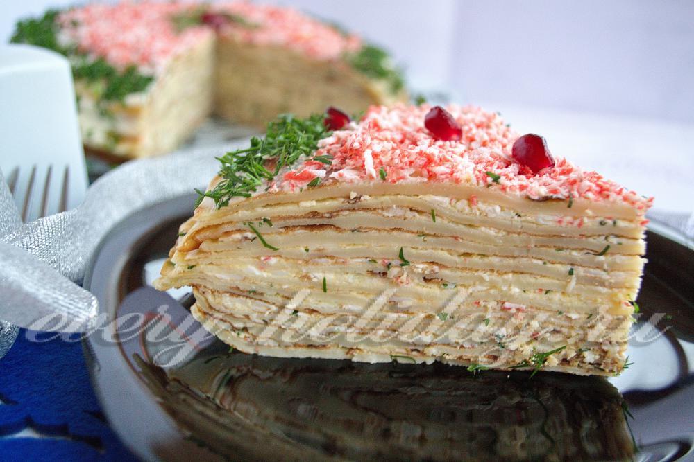Блинный торт закусочный рецепты