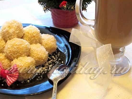 Конфеты «Рафаэлло» из кукурузных палочек