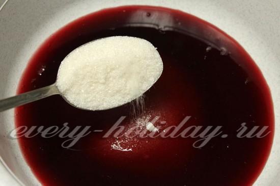 Добавить в вишневый сок сахар