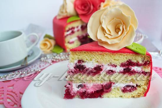 Рецепт бисквитного торта с мастикой
