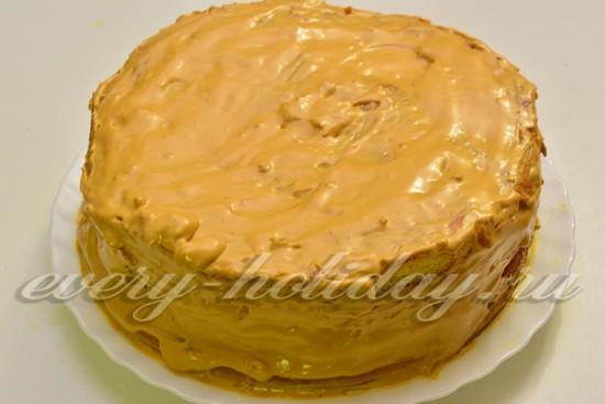 Рецепт медового торта с кремом с пошагово