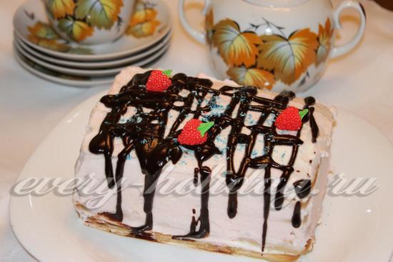 торт из печенья фото рецепт