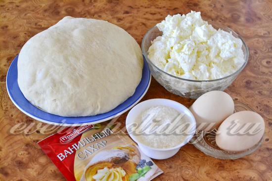 Ингредиенты для приготовления пирожков с творогом