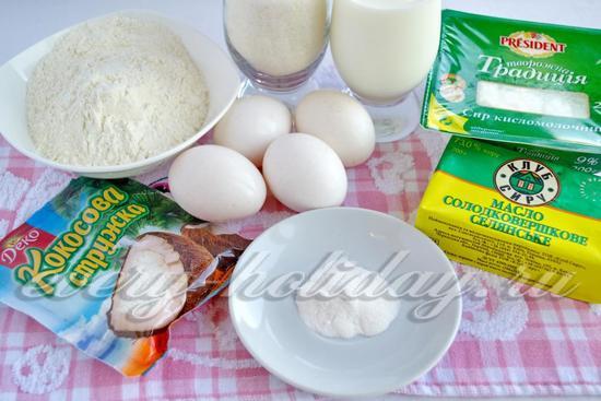 Ингредиенты для торта рафаэлло