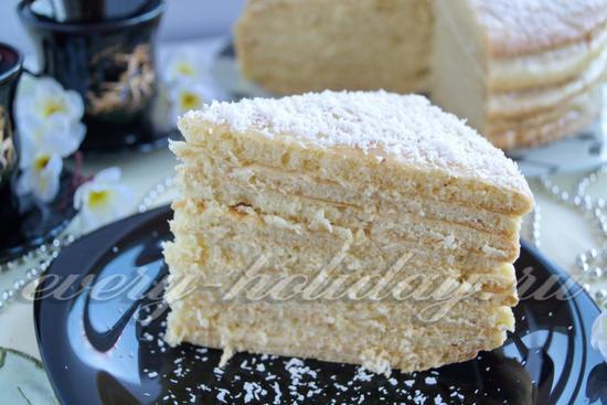 рецепт простого торта с творогом Рафаэлло
