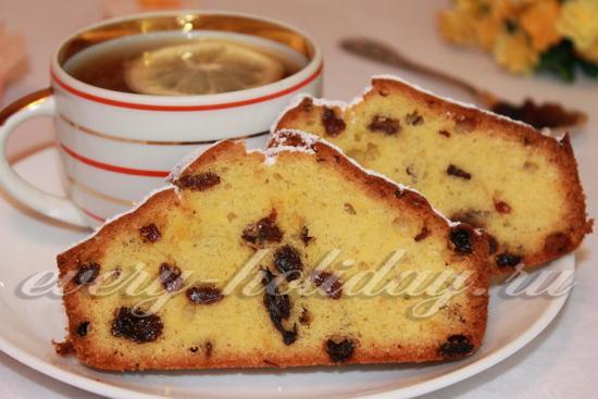 простой рецепт вкусного кекса с изюмом