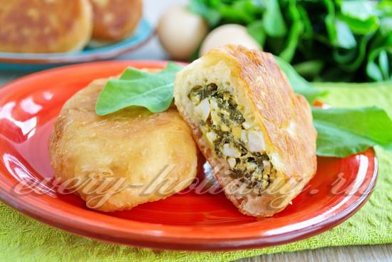 Рецепт пирожки жареные с щавелем и