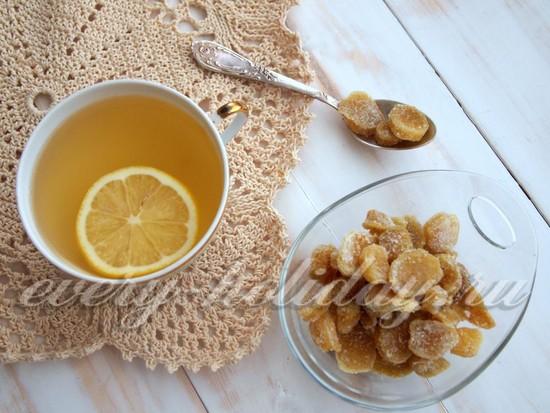 рецепт полезных цукатов из имбиря