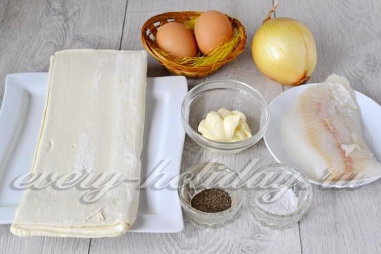 Ингредиенты для приготовления тарталеток с рыбой
