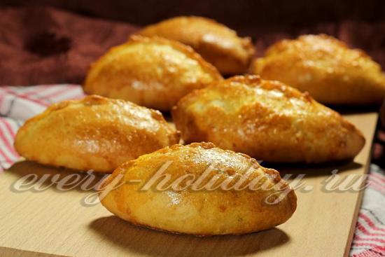 Пирожки с капустой в духовке, пошаговый рецепт с фото