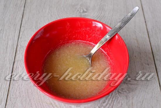 Распускаем быстрорастворимый желатин