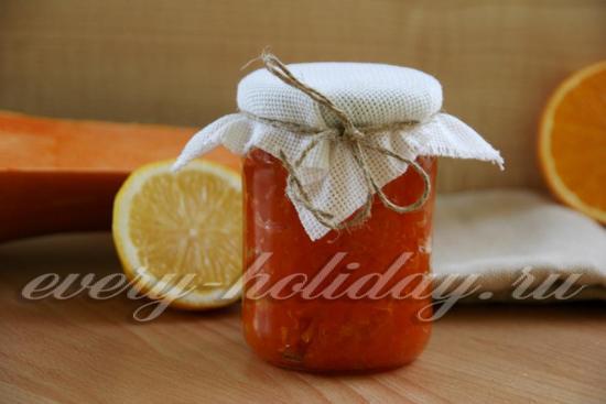джем из тыквы и апельсина