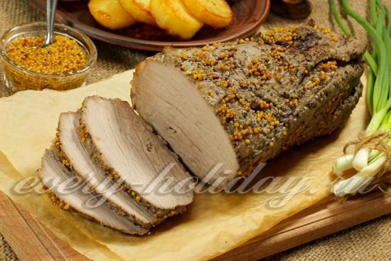 рецепт буженины из свиной корейки