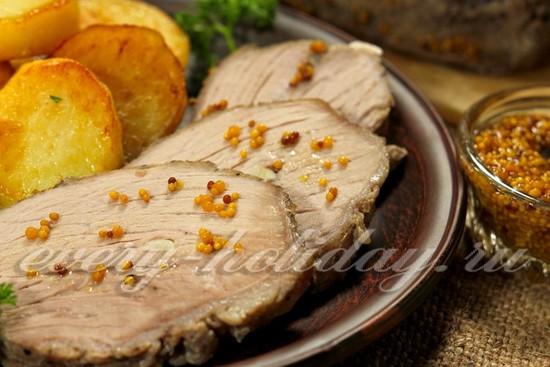 рецепт буженины из свиной корейки и с горчицей