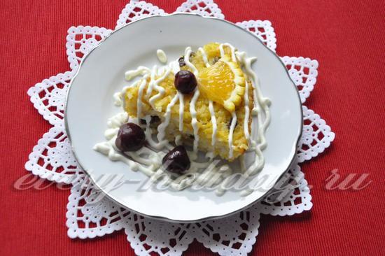 рецепт рисово-тыквенной запеканки
